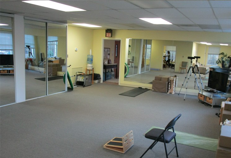 Photo of the therapy facilities and equipment used for exercises at the Egoscue clinic in Arlington, Virginia