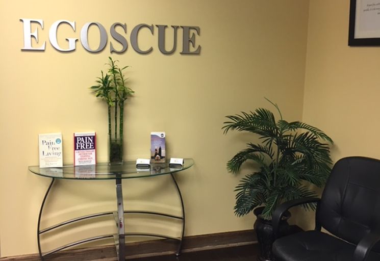 Photo of a reception area at the Egoscue clinic in Atlanta, Georgia