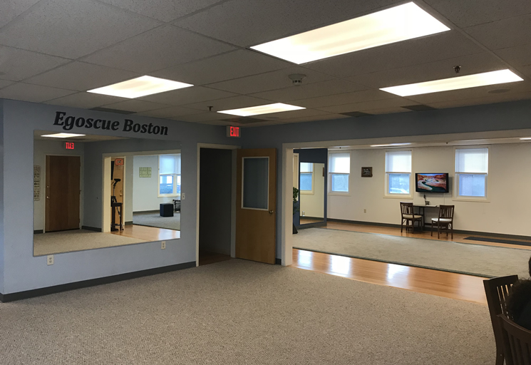 Photo of the therapy facilities at the Egoscue clinic in Boston, Massachusetts