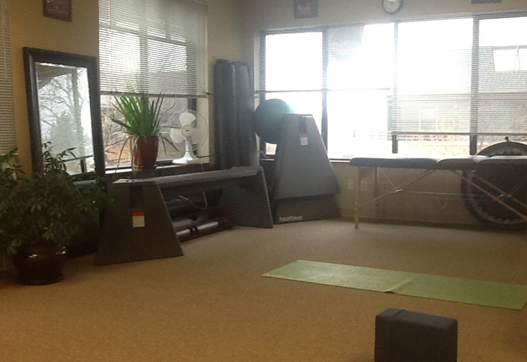 Photo of the therapy facilities and equipment at the Egoscue clinic in Boulder, Colorado
