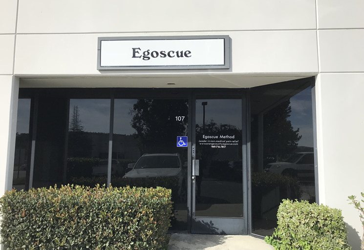 Photo of the exterior of the Egoscue clinic building in Orange County, California