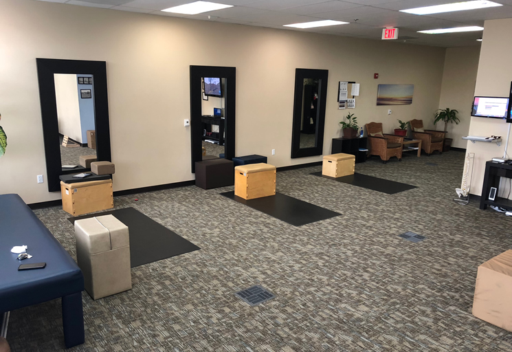 Photo of the therapy facilities and equipment at the Egoscue clinic in San Diego South, California