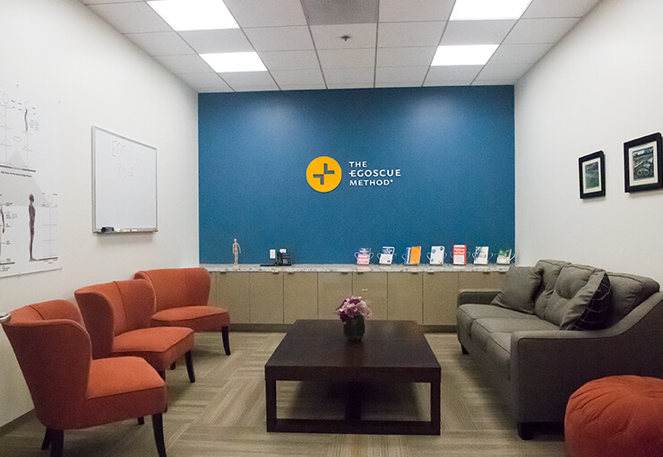 Photo of the reception area at the Egoscue clinic in Del Mar, California